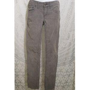 Free People Corduroy Gray Skinny Jean Pants 27